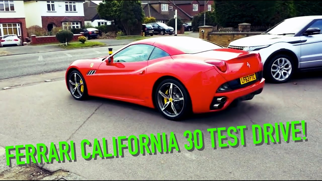Ferrari California 30 Test Drive With Hard Acceleration