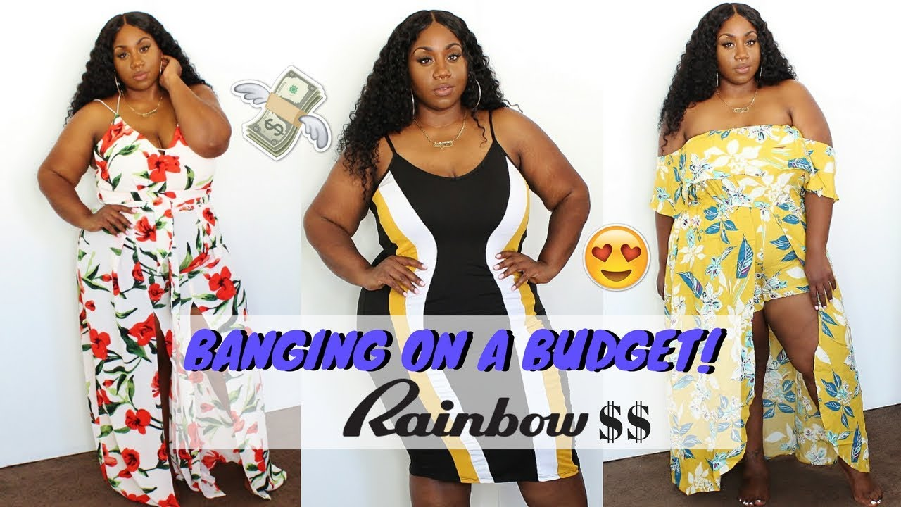 eaa38bfc525 BANGING ON A BUDGET! PLUS SIZE SUMMER RAINBOW SHOPS HAUL 2018! - YouTube