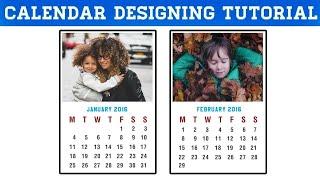 Comment faire de Calendrier dans Photoshop CC, CS6 et Photoshop Calendrier de Conception Tutoriel | Nouvel An du Calendrier