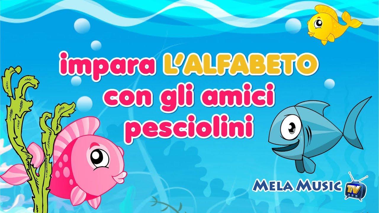 Impara l 39 alfabeto con gli amici pesciolini canzoni per for Pesciolini da colorare per bambini