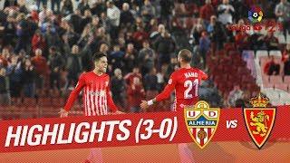 Resumen de UD Almería vs Real Zaragoza (3-0)