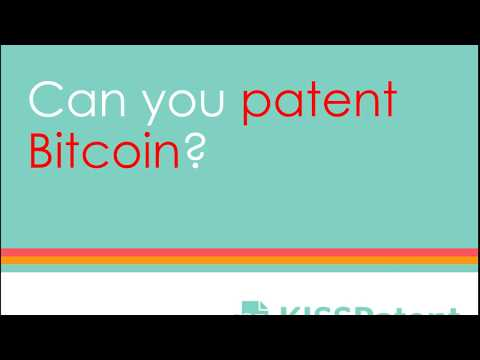 Can you patent bitcoin?