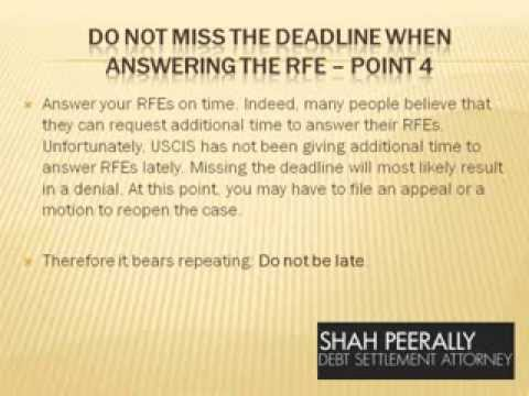 How to answer a Request for Evidence - RFE?- (Immigration Know-How))