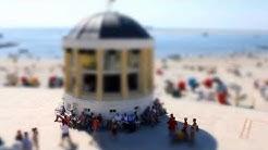 Borkum Strandpromenade und Hauptstrand sowie Leuchtturm (Time Lapse Borkum (Tilt Shift) 2013)