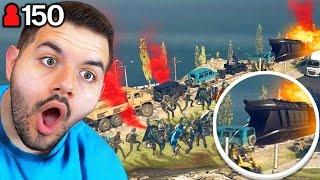 150 Players Stop The Warzone Train (WE DID THE IMPOSSIBLE)