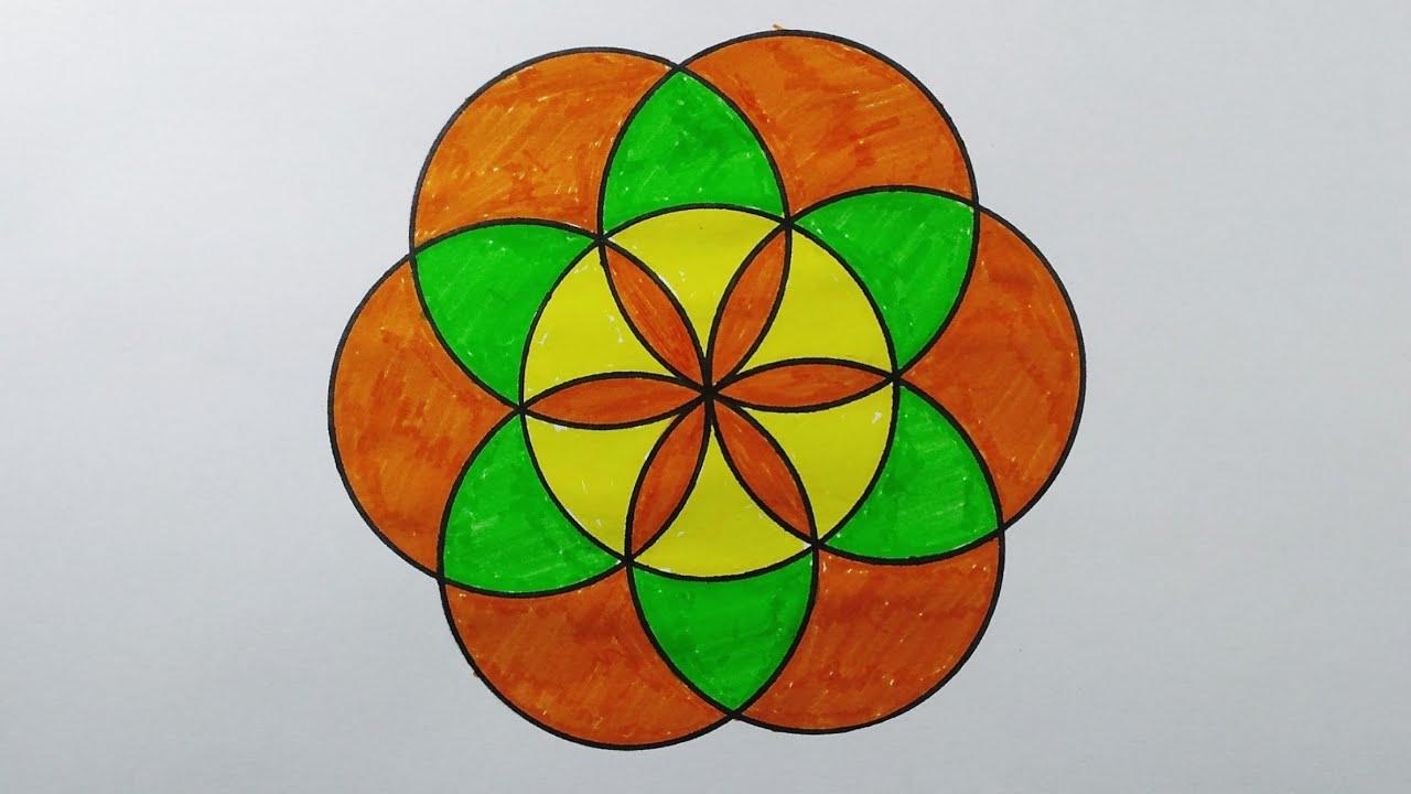 رسم سهل رسم تحوير الوحدة الزخرفية النباتية الزخارف المتشعبة للصف السادس الابتدائي Youtube