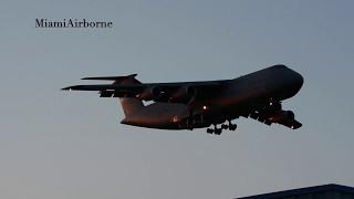 **USAF** C-5 Galaxy Landing at West Palm Beach International