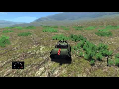 Demo car and forest