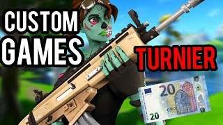 20€ Custom Games Turnier! 🔥 | Zeigt euren Skill! 💪| Road to 1400 ⚡️| Live: Fortnite [Deutsch]🔴