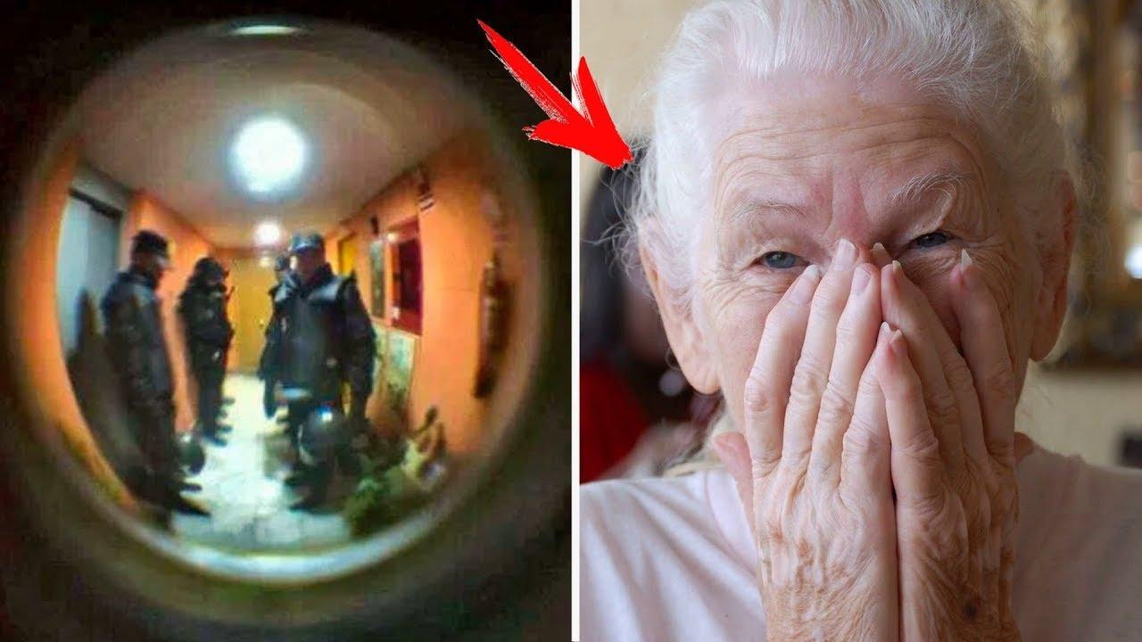 اتصلت العجوز بالشرطة واخبرتهم انها جائعة وتريد ان تأكل وما حدث بعد ذلك كان مذهل