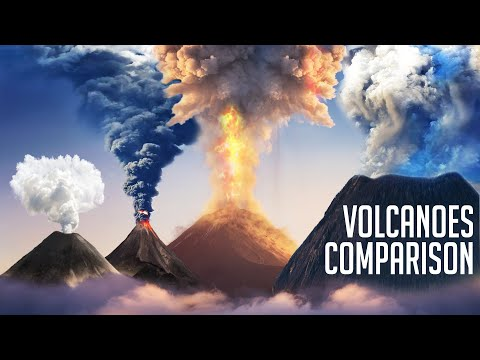 The Most Terrible Volcanoes In The History of The Earth Comparison