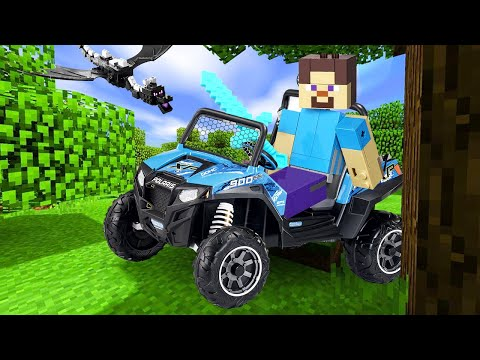 Видео игры Майнкрафт – Стив ищет мобов Майнкрафт в Реале! – Новые игры для мальчиков.