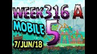Angry Birds Friends Tournament Level 5 Week 316-A  MOBILE Highscore POWER-UP walkthrough