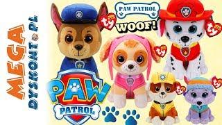 Psi Patrol  TY Beanie Boos  Słodkie maskotki piesków
