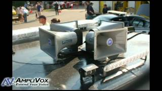 Police Department use Car PA System in Fourth of July Parade
