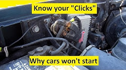 Know your cars Clicks. Why it won't start