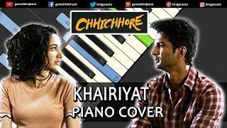 Khairiyat Song Chhichhore | Piano Cover Chords Instrumental By Ganesh Kini