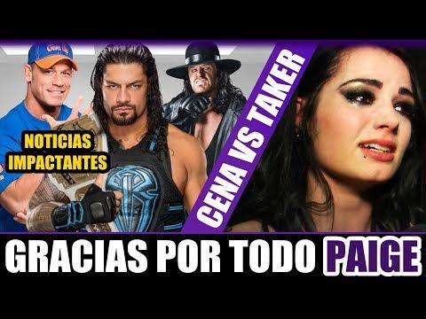WWE Noticias: ADIÓS PAIGE | Undertaker vs Cena | RICOCHET | R. Roussey | Broken | Y MAS!
