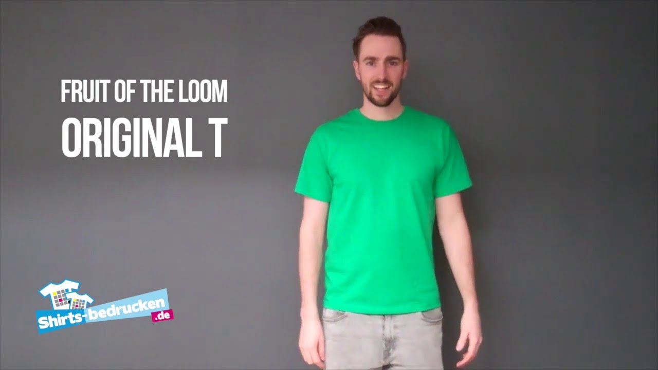1bcba7a838 Fruit of the Loom Original T | 61-082-0 | shirts-bedrucken.de - YouTube