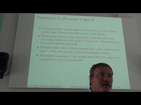"""Roman Nedela - Plenary talk """"Hamilton Cycles in Graphs Embedded into Surfaces"""""""