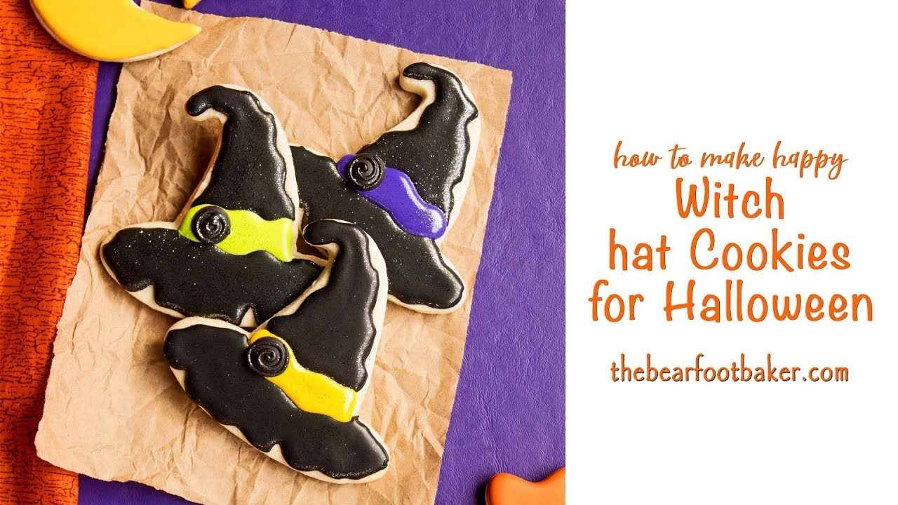 c37a5d4fc35 How to Make Happy Witch Hat Cookies for Halloween - YouTube