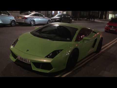 Green Lamborghini Gallardo LP560 Coupe Walkaround on Curzon Street, London