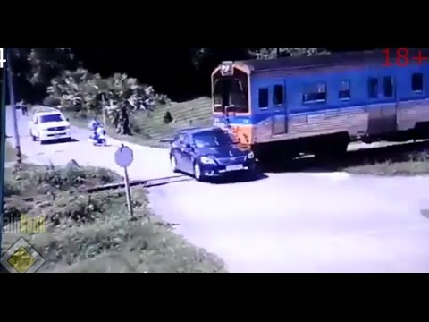 Cars vs Trains Compilation MEGA CRASH