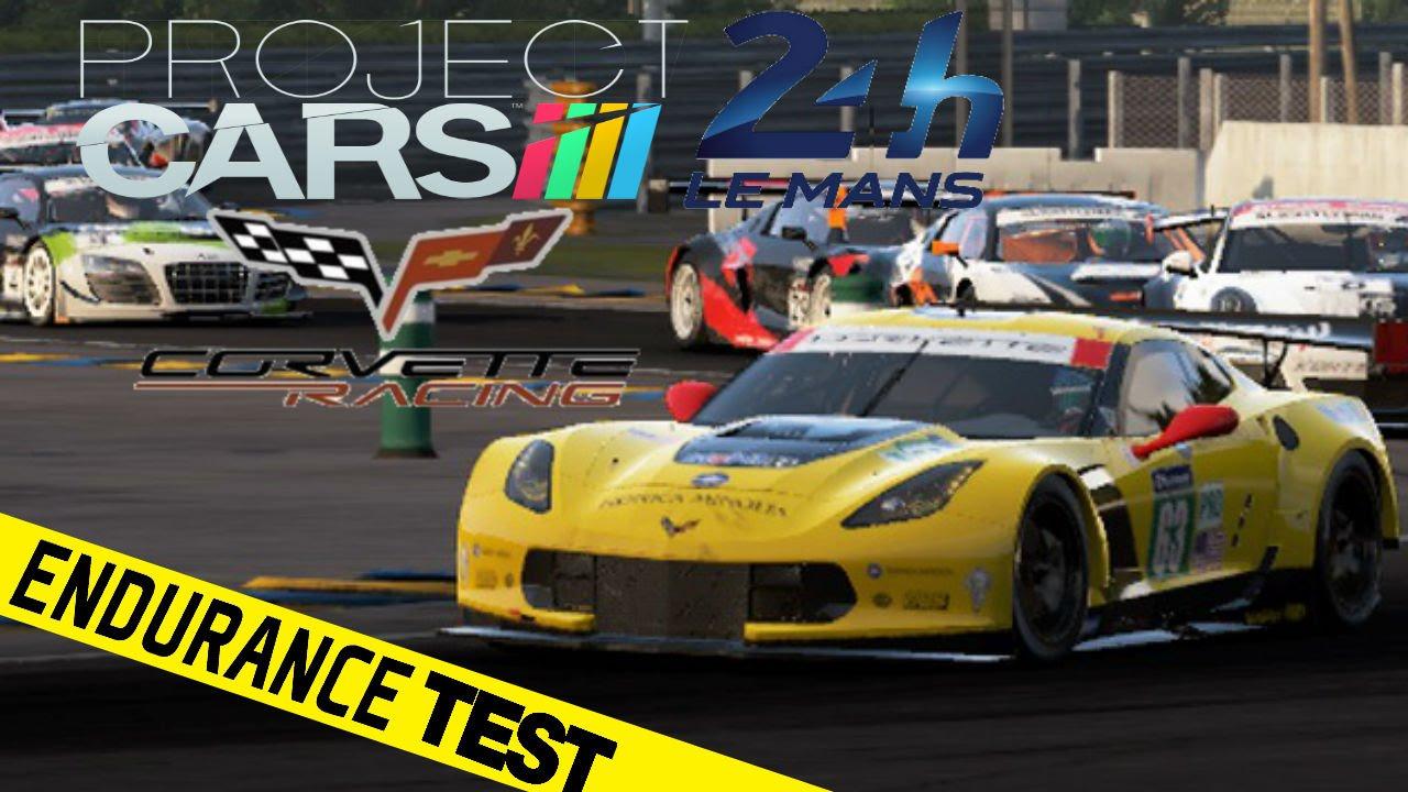 Project Cars Corvette R Of Le Mans Endurance Test Race