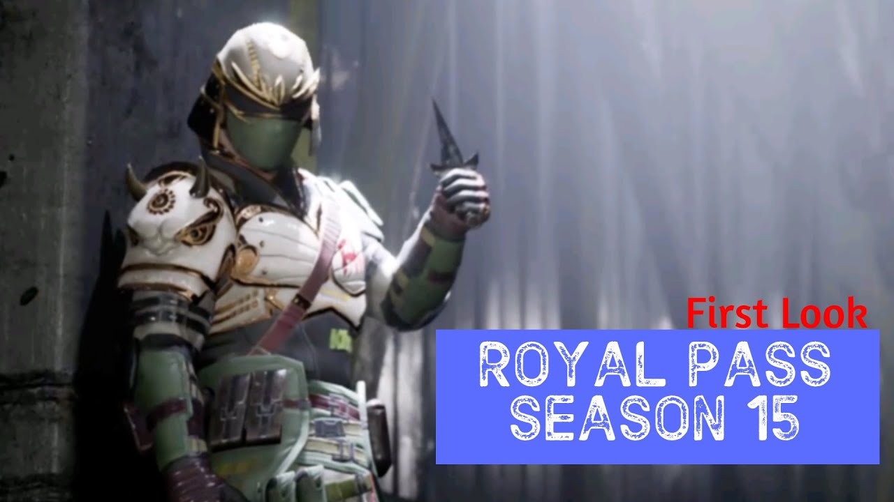 PUBG MOBILE Royal Pass Season 15 First Look