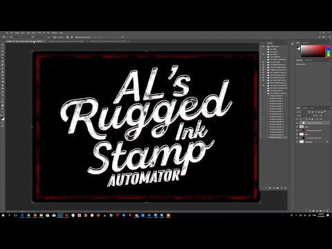 AL's Rugged Ink Stamp Automator ( Photoshop Action)