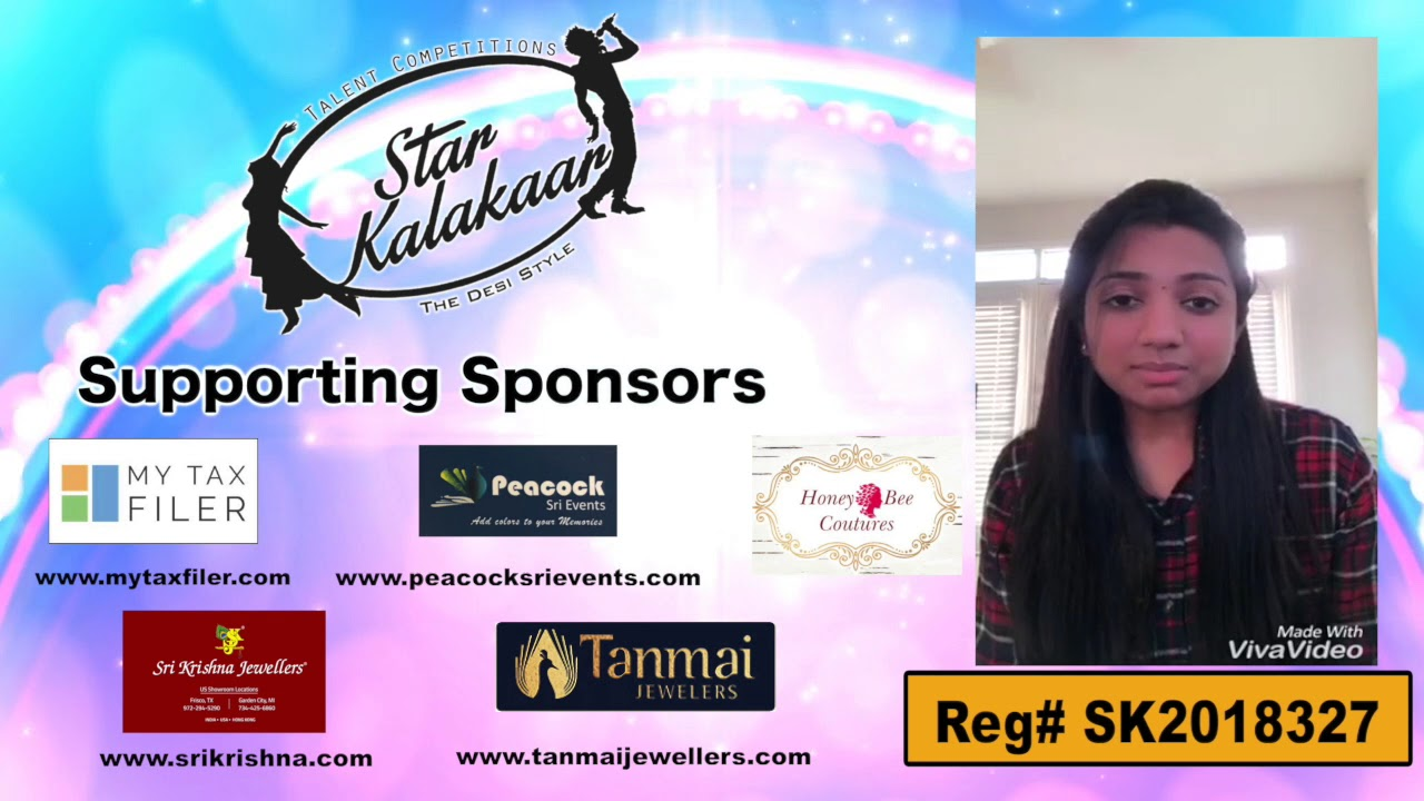 Participant Reg# SK2018-327 Introduction - US Star Kalakaar 2018 || DesiplazaTV