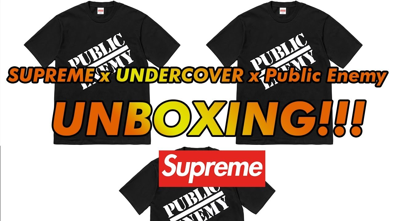 5ad17acf Supreme x Undercover x Public Enemy Tee Unboxing!!! - YouTube