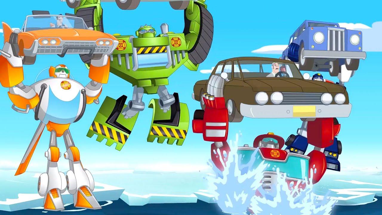 Transformers en español | LA PUNTA DEL ICEBERG | Rescue Bots | Episodio Completo