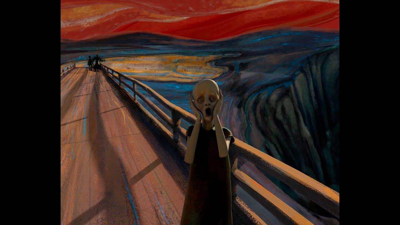 Le Cri D Edward Munch En Animation 3d Youtube