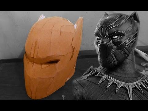 Black Panther Helmet Cardboard (Part 1)
