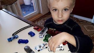 Машинки  Игрушки Полицейский автобус