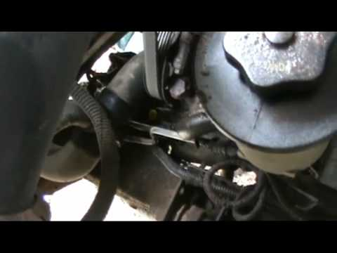 Ford Lower Power Steering Hose Replace - YouTube