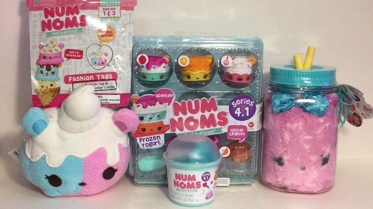 Num Noms Cotton Candy Plush Blind Bags Yogurt Set Toys