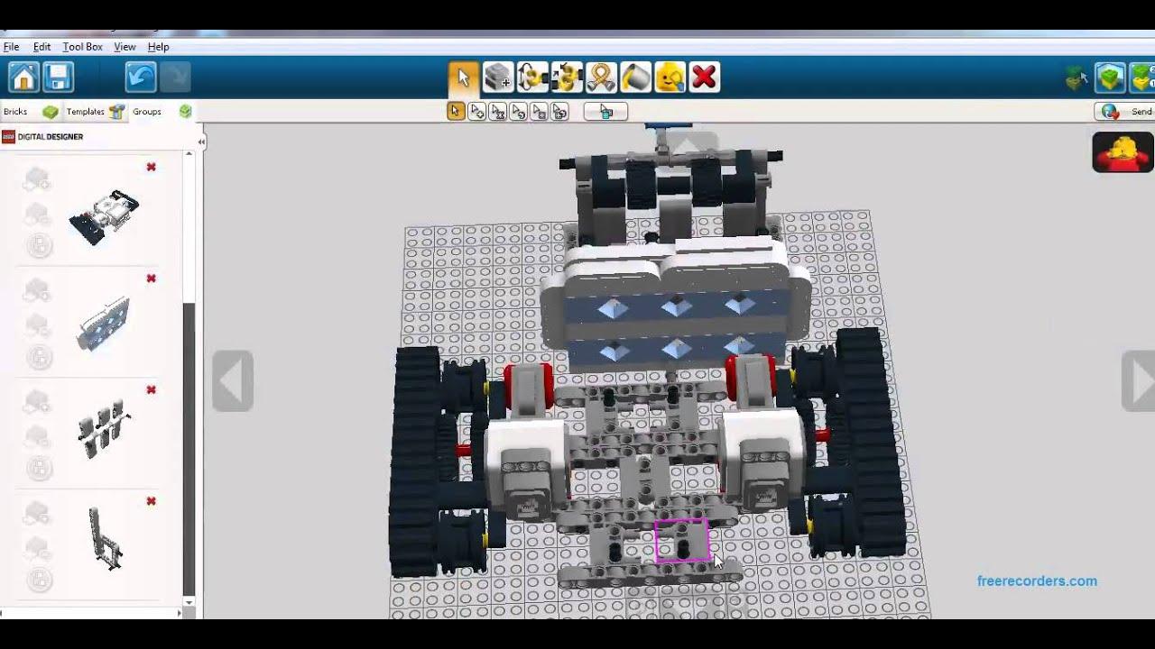 Ev3 track3r using lego digital designer 22 youtube ev3 track3r using lego digital designer 22 pronofoot35fo Images