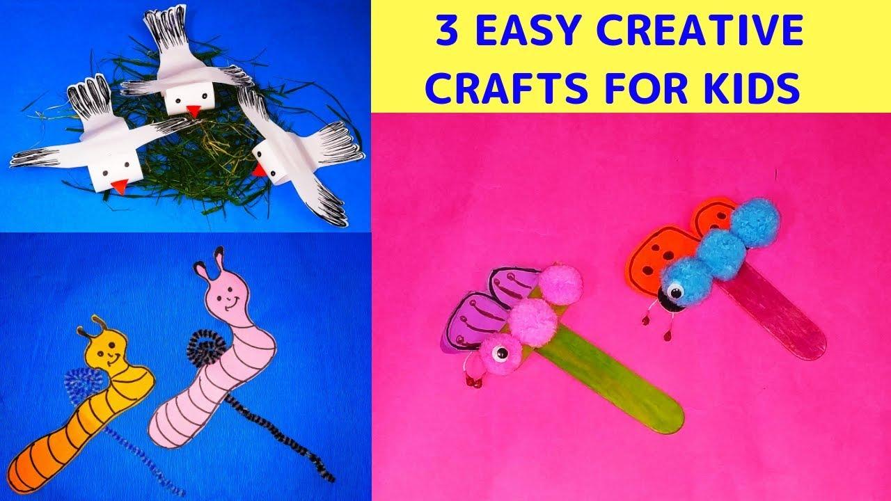 3 Very Easy Creative Craft Ideas Kids Activity Diy Craft Ideas