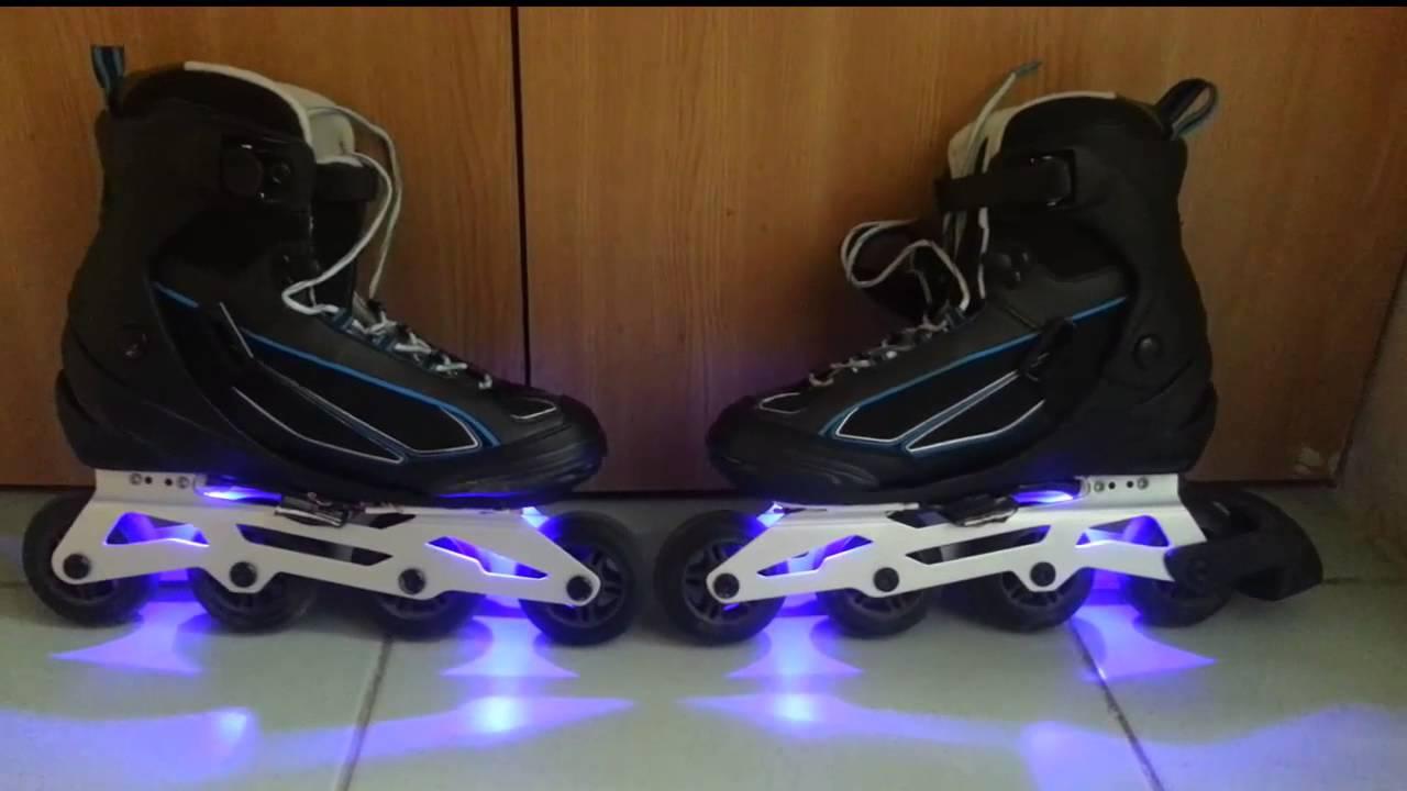 Roller skates light up - Inline Skates With Rgb Led