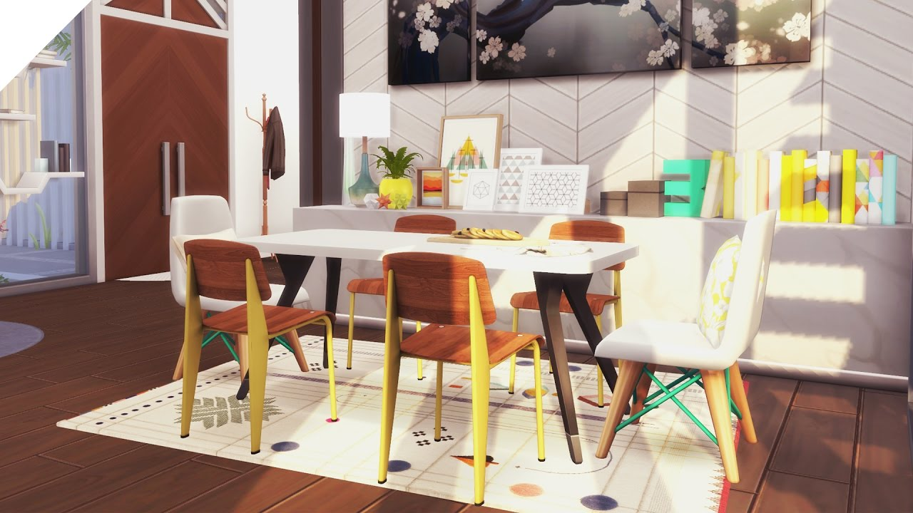 The Sims 4: Speed Build | Mid-Century Eclectic + Download | Part 2/2 ...