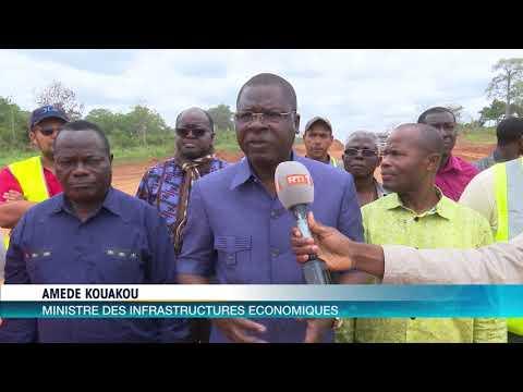 Economie: Autoroute Yamoussoukro-Tiebissou, le ministre Amede Kouakou sur le chantier