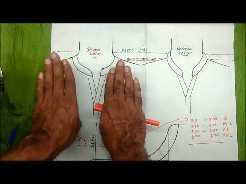 Mandrain collar cutting for size S,M,L,XL,XXL explained Full DIY tutorial Part1,malayalam