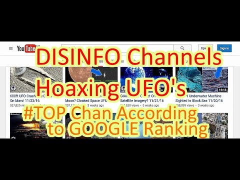 The Out There Channel - YouTubes search result for UFO Channels on  (15Dec2016)