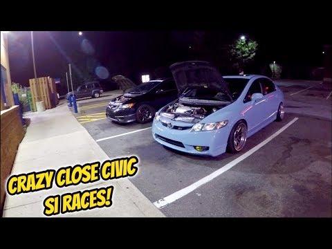 Crazy Honda Civic Race
