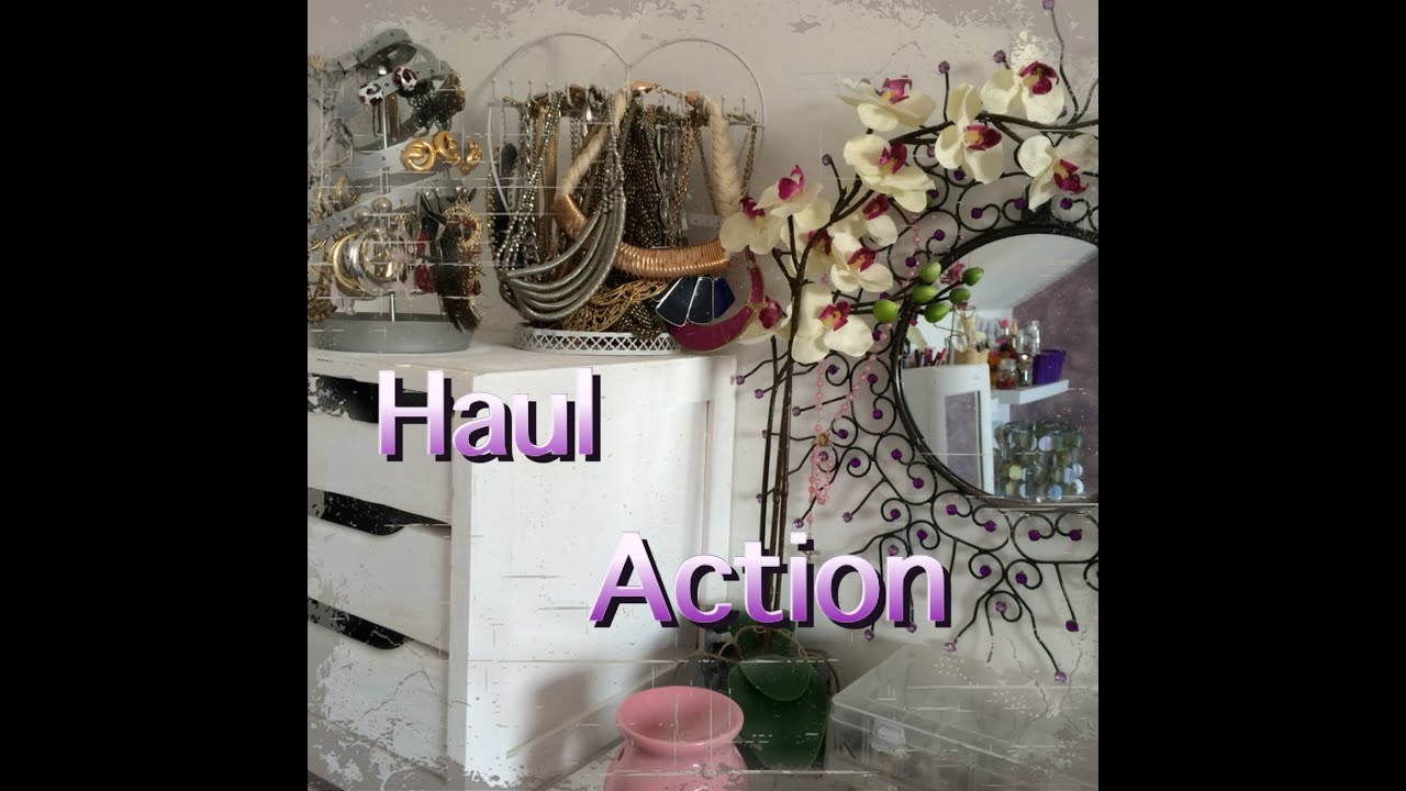haul d coration avec le magasin action youtube. Black Bedroom Furniture Sets. Home Design Ideas