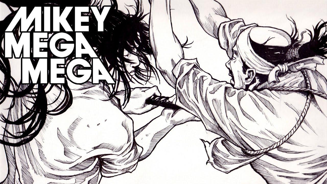 Vagabond (Manga) Inking time lapse - Inoue Takehiko Study 01 MIKEY MEGA MEGA