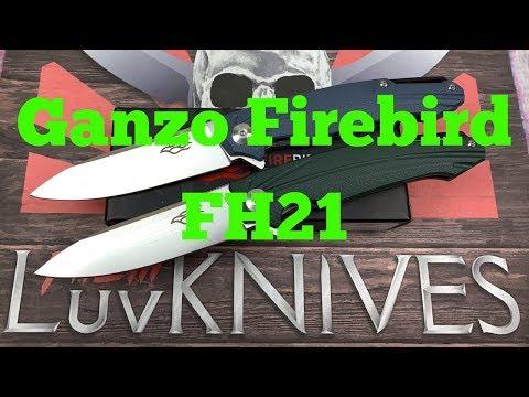 Ganzo Firebird FH21 Linerlock Flipper Knife W/D2 Blade  A Whole New Generation Of Ganzo !! Great  !