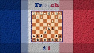 Chess Openings - French Defence , advanced variation #1 [ 1.e4 e6 2.d4 d5 3.e5 c5 4.c3 Nc6 ]